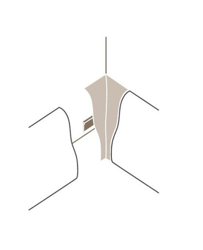 Sorolóelem SL4 belső sarok Típus 2 Alu szín