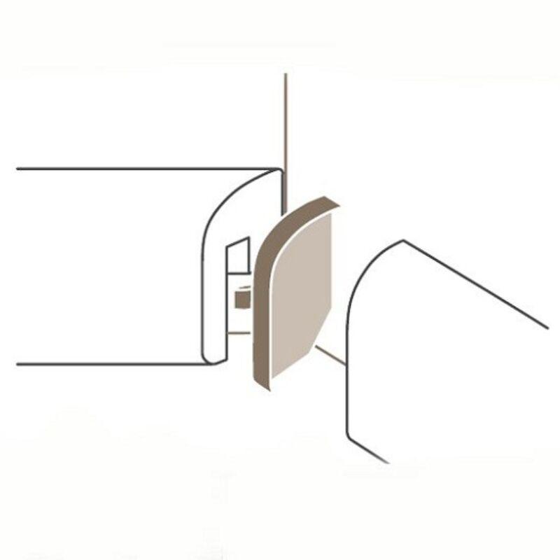 Sorolóelem SL2 belső sarok Típus 1 Alu szín, Parador Parketta