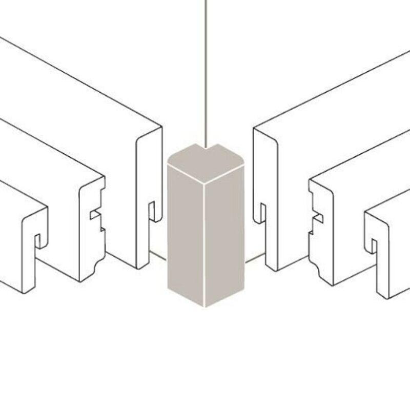 Sorolóelem - Univerzális külső sarok Típus 2 Alu szín