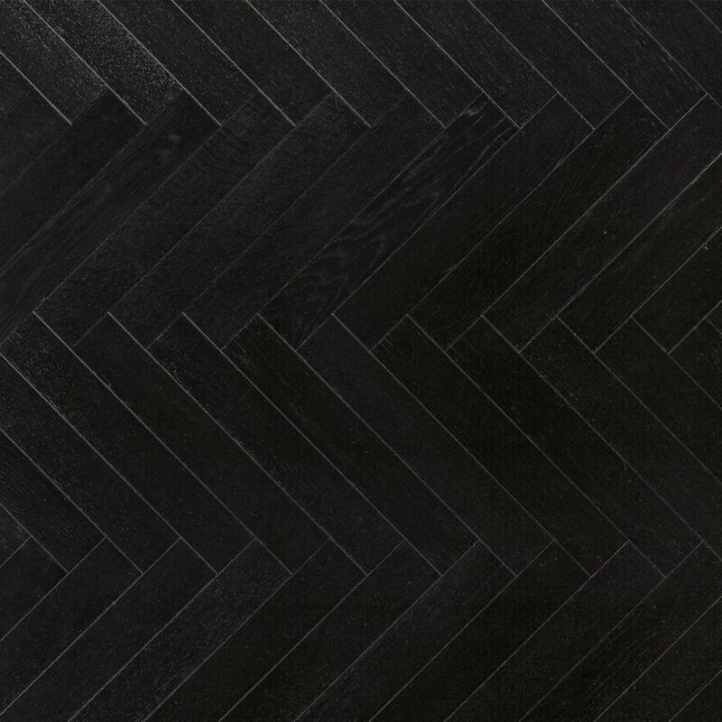Készparketta - Trendtime 3 - Oak black herringbone - matt lakkozott