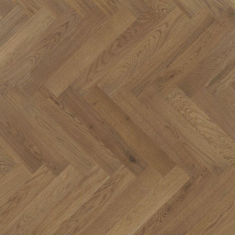 Készparketta - Trendtime 3 - Oak nougat herringbone - matt lakkozott