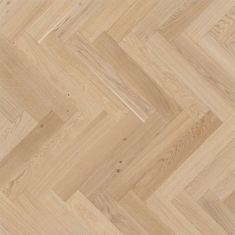 Készparketta - Trendtime 3 - Oak Pure herringbone - matt lakkozott