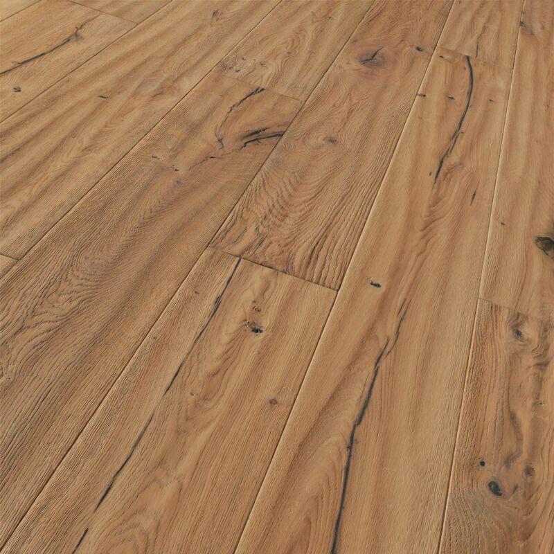 Készparketta - Trendtime 8 - Oak handscraped brushed - fehér olajozott