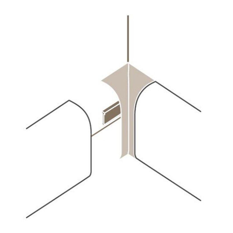 Sorolóelem - SL2 belső sarok Típus 2 Alu szín